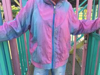 Colorful Jacket Pink Blue Purple Full Zip Daily