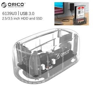 ORICO 2.5 / 3.5 inch USB3.0 Transparent Hard Drive Dock (6139U3)