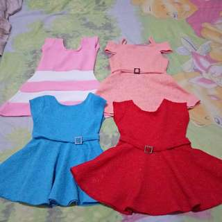 Baby Dresses can fit upto 9 months Take All