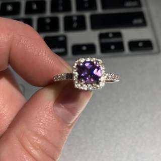 Sterling Silver, Synthetic Amethyst