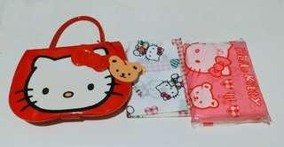 Hello Kitty 四方巾連印花紙巾套裝 懷舊 絕版