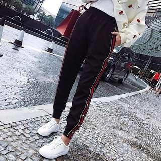 (S~6XL) Trousers spring and summer sports pants Korean version of the loose Harajuku bf harem pants