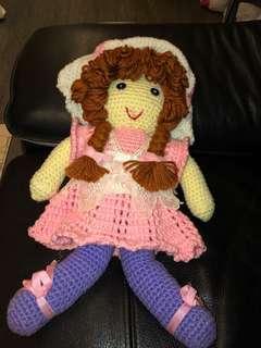 100% Handmade Crochet Doll (40cm)