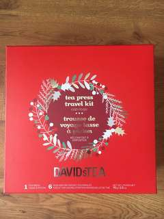 David's Tea tea sample set and Travel mug