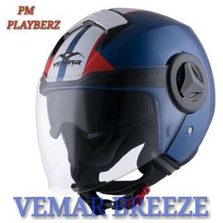 *PSB APPROVED VEMAR BREEZE HELMET (GLOSSY BLUE)