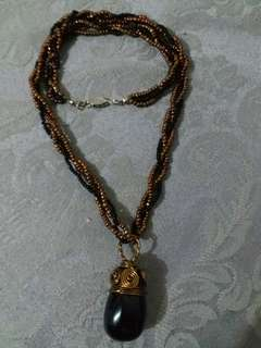 Black and Bronze Necklace