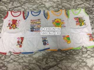 Terno sando for baby boy 0-3yrs old