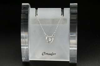 Crossfor New York Dancing Stone Coco NYP-616 Silver Necklace