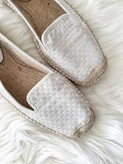 Nine West Size 10 M White Espadrilles