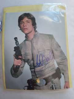 Mark Hamill Star Wars signed autograph 8x10