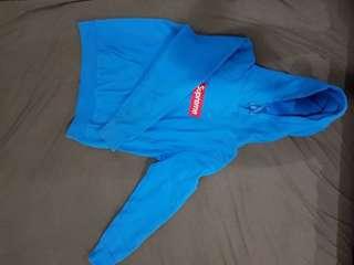 Teal Blue Box Logo Supreme Hoodie