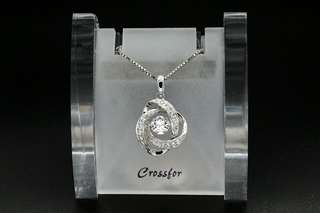 Crossfor New York Dancing Stone Loop1 NYP-587 Silver Necklace