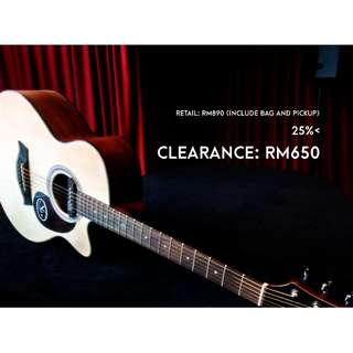 NG Dawn M401CN Acoustic Guitar Package [Clearance May 2018]