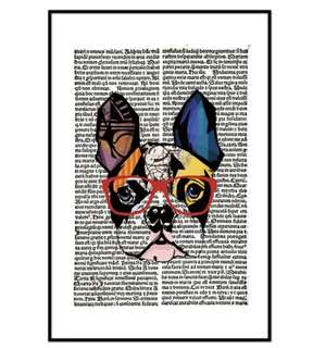 Frenchie Canvas Painting Print Large Free Shipping