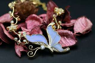 Navia Jewelry Real Butterfly Wing Jewelry Morpho aega Silver Necklace