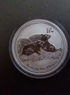 Perth Mint 2008 Lunar Mouse 1 oz silver coin