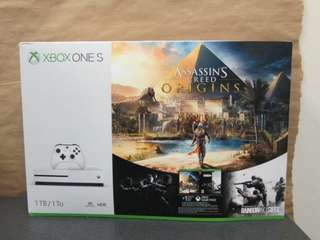 *NEW* XBOX ONE S 1TB(ASSASSINS CREED BUNDLE)