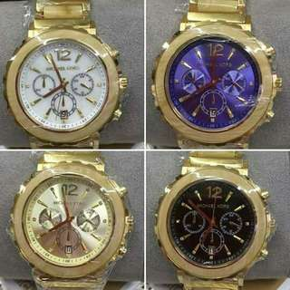 AUTH MK CHRONO LILLIE WATCHES