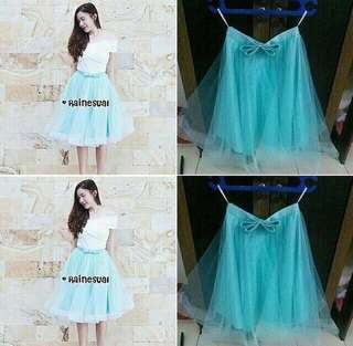 Tulle Skirt Tutu Skirt Gaun pengantin dress promnight sweetseventeen gaun dress bridesmaid