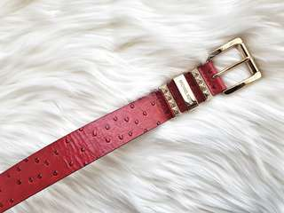 Michael Kors Size Small Red Reptile Belt #554122