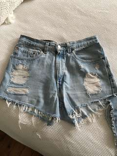 Levi's denim vintage shorts