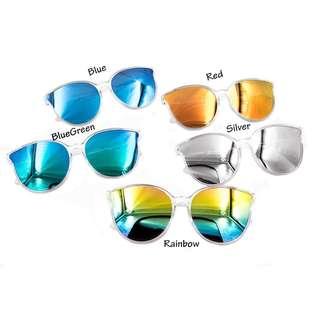 Fashionable Plastic Frame Sunglasses Shades Sunnies-Rainbow