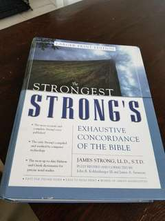 The strongest exhaustive concordance of the bible