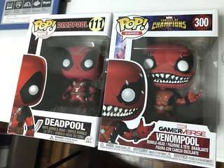 Funko Pop Deadpool and Venompool