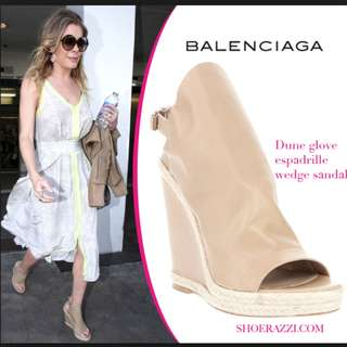 Balenciaga glove wedge espadrille sandals, size 36,new