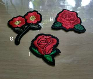 Iron Patch bordir bunga mini cantik