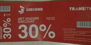 Voucher diskon 3second