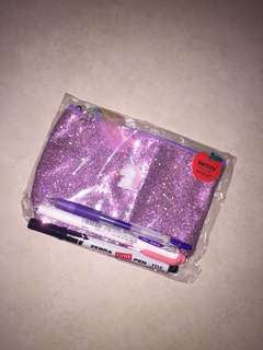 INSTOCK $6 MAILED Glittery pink UNICORN pouch pencil case