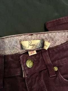Designer Jeans Size 25- JBrand + Paige