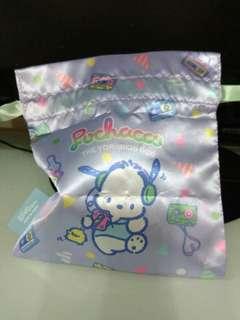 Sanrio Pochacco 扭蛋絹布小袋