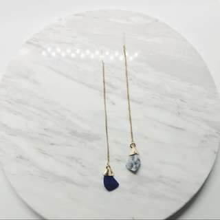 Precious gemstone earring (1-side only)