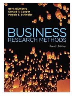BUSINESS RESEARCH METHODS (4TH EDITION) TEXTBOOK