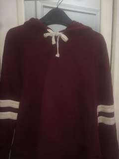 Forever 21 burgundy sweater
