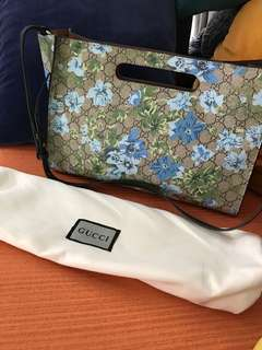 Gucci GG monogram floral print two-way with dustbag