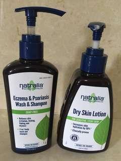 Natralia Eczema Psoriasis Shampoo Wash and Lotion