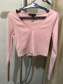 Forever 21 crop top in blush