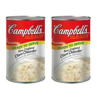 costco線上代購 #30804 Campbell's 金寶 新英倫蛤蜊濃湯 1.41公斤X2入(組)X2組