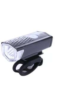 300LM Bicycle CREE LED Lamp USB Rechargeable Bike Front Light