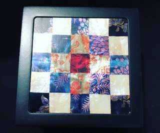 Wooden Box with Mother Of Pearl Cover (Square Design)