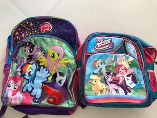 2x My Little Pony School Bags for children