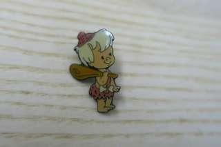 90年代中古聰明笨伯襟章pin