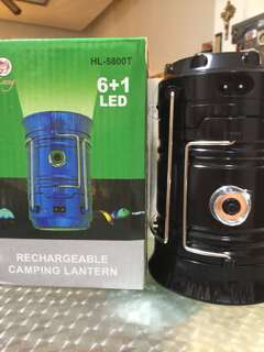 Camping light and flashlight in one