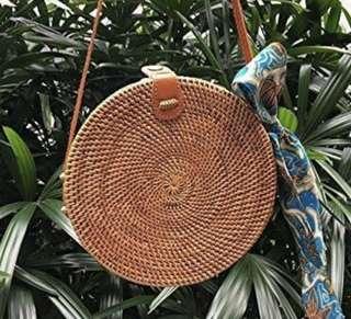 PO Rotan Bag / Bali Bag/ Sling Bag / Fashion Bag / Women Bag from Bali/ Round Rattan Bag