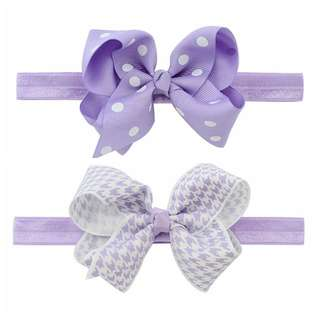 Instock - 2pc purple assorted headband, baby infant toddler girl children cute glad 123456789 lalalalala
