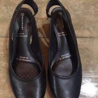 Black sling shoes