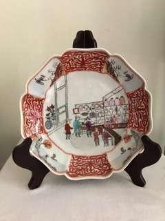 A rare Sino-foreigner antique trading foliate vase